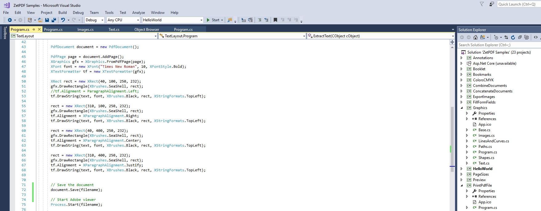 C# Tutorial Pdf For ZETPDF- The Top-Notch Pdf Builder For